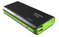 ADATA PT100 Power Bank 10000mAh, black/green Powerbank, mobilā uzlādes iekārta