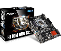 MB Intel 1151 ASRock H110M DVS R2.0 pamatplate, mātesplate