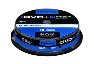 Intenso DVD+R 8.5GB, DL, 8x (10) 45725  4034303006922 matricas