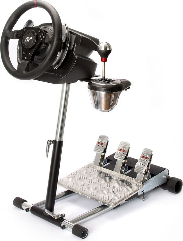 Wheel Stand Pro Stand For Thrustmaster T500RS Black & Silver (WSP T500 DELUXE) spēļu aksesuārs