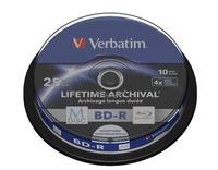 BluRay M-DISC BD-R Verbatim [ Spindle 10 | 25GB | 4x | Inkjet Printable ] matricas
