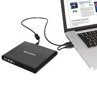 Verbatim External CD/DVD ReWriter, USB 2.0, Slim, Black diskdzinis, optiskā iekārta