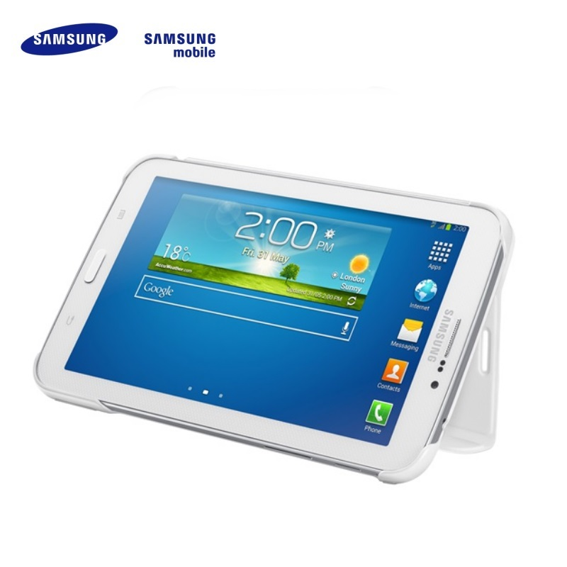 Samsung EF-BT110BWE Galaxy Tab 3 7 0 T1100 T1110 Lite Ultra plāns maks ar  statīvu Balts (EU Blister) planšetdatora soma