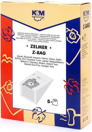 K & M Z-BAG (5) Paper bag aksesuārs putekļsūcējam