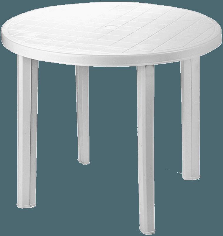 Galds apaļš Tondo 90cm balts plastmasas Dārza mēbeles