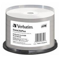 DVD+R DL Verbatim [ spindle 50 | 8,5GB | 8x | WIDE THERMAL PRINTABLE ] matricas