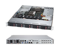 1U,10x 2.5'' Hot-swap HDD bays w/ 2x Xeon E5-2600 support, 700W PS (redundant) serveris