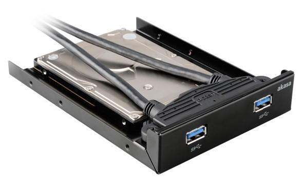 2.5 SSD & HDD adapter 2x USB 3.0 port AK-HDA-09B aksesuārs datorkorpusiem