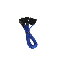 BitFenix adapter Molex for 3x 3-Pin 7V 20cm - Blue black aksesuārs datorkorpusiem