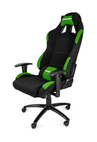 AKRACING Gaming Chair - black/green datorkrēsls, spēļukrēsls