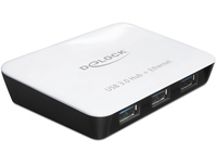 DeLOCK USB3.0 Hub 3x USB3.0 / 1x GB-LAN USB centrmezgli