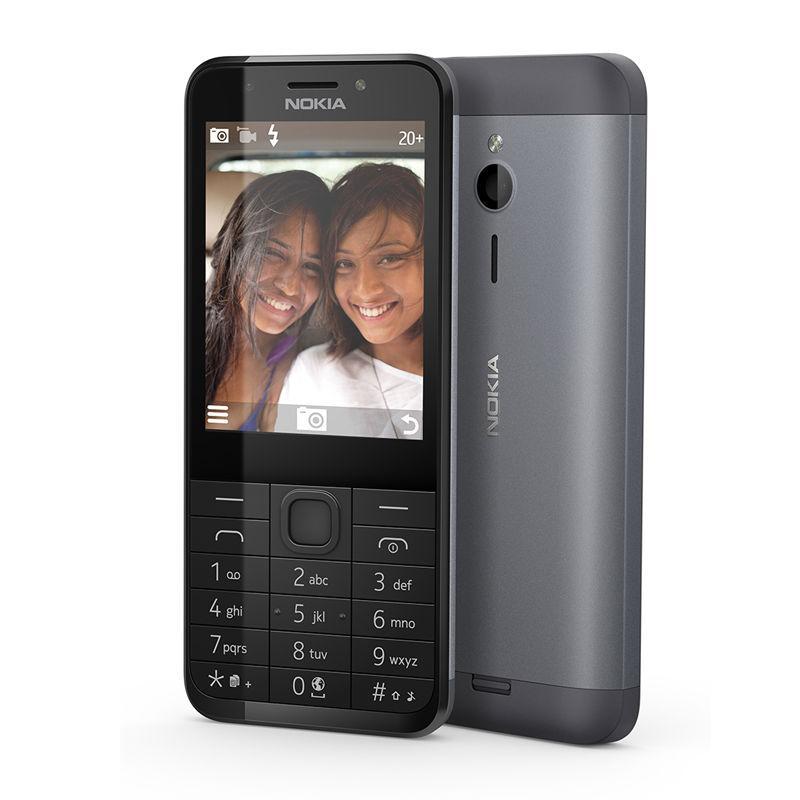 Nokia 230 Dual Sim dark silver Mobilais Telefons