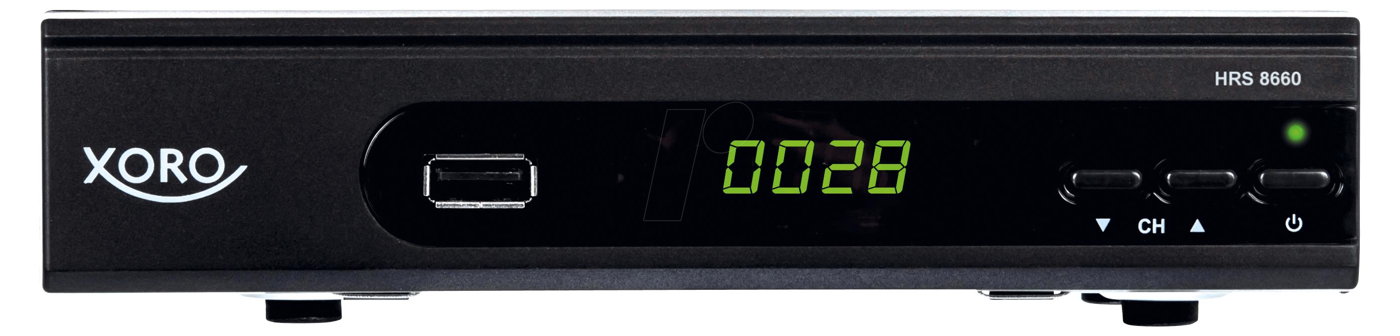 Xoro HRS 8660, HD DVB-S2 Receiver, PVR Ready, Black - SAT100489 Satelītu piederumi un aksesuāri