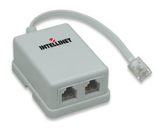 Intellinet ADSL modem splitter adapter