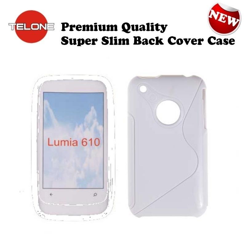 Telone Back Case S-Case gumijots telefona apvalks Nokia 610 aksesuārs mobilajiem telefoniem