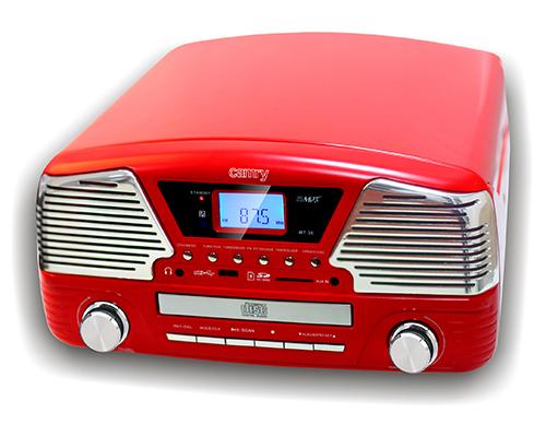 Gramophone with CD/MP3/ USB/SD/recording CR1134 radio, radiopulksteņi