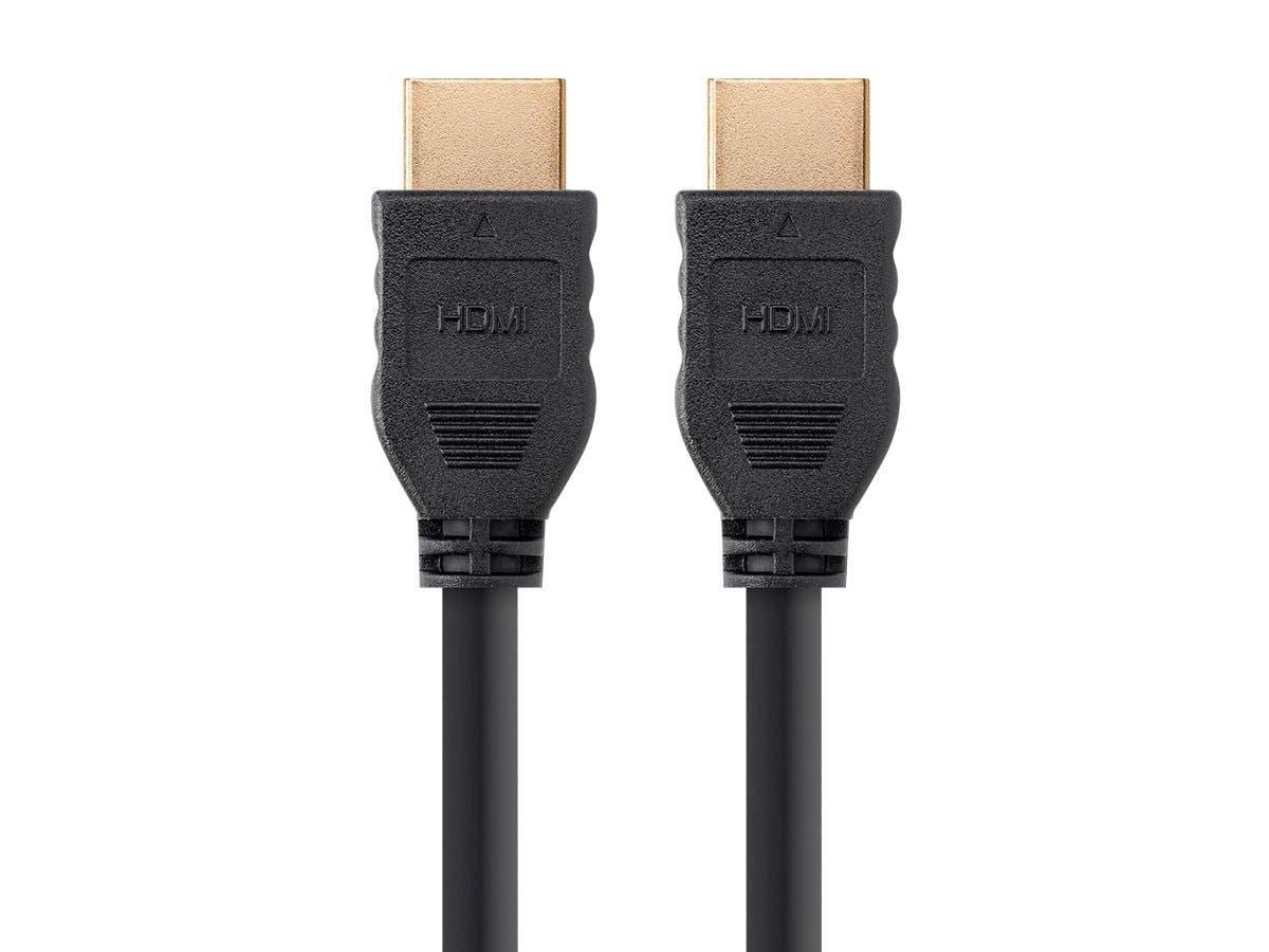 RoGer HDMI Gold Platted Kabelis / 19pin / 2160p Ultra HD / 2 metri / Melns kabelis video, audio