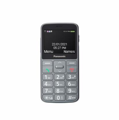 Panasonic KX-TU160 Easy Use Mobile Phone Grey, 2.4 , TFT-LCD, 240 x 320, USB version USB-C, Built-in camera, Main camera 0.3 MP 502523292047 Mobilais Telefons