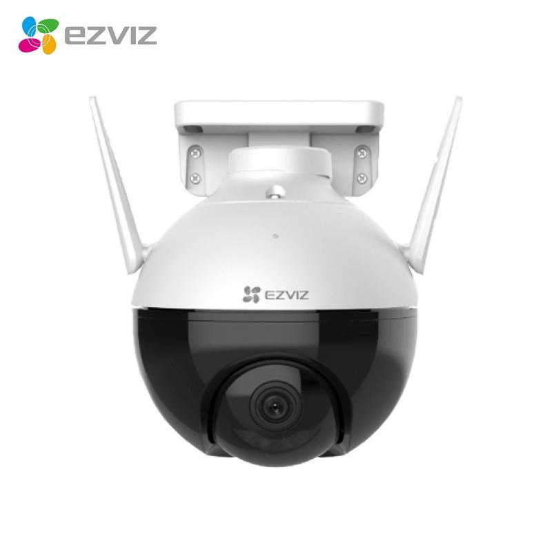 EZVIZ CS-C8C Ārtelpu Bezvadu Full HD Wi-Fi IP65 360 rotējoša kamera / MicroSD / Nakts redzamība Balta novērošanas kamera