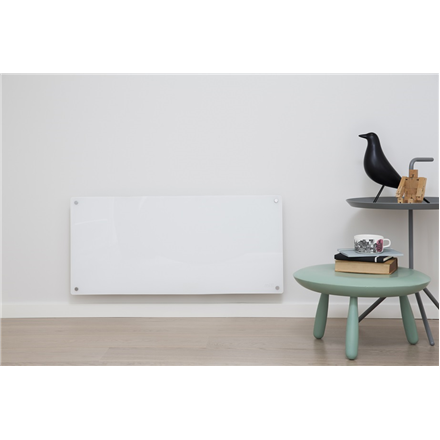 Mill Glass MB900DN Panel Heater, 900 W, Suitable for rooms up to 15 m², Number of fins Inapplicable, White 7090019821591