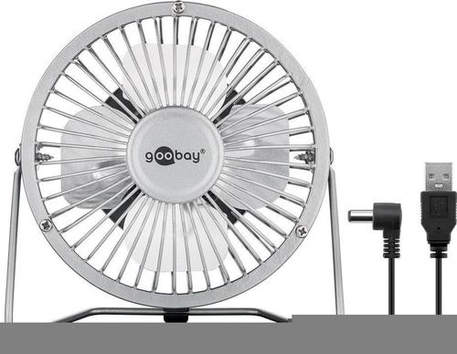 Goobay 77503 15cm galda ventilators USB , silver, 1.2m adapteris