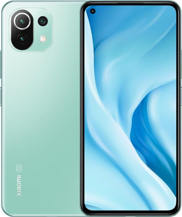 Xiaomi Mi 11 lite 5G DS - 6.55 - 128GB / 8GB green - Android MZB08JZEU Mobilais Telefons