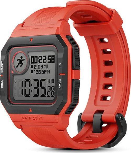 Amazfit Neo Smart watch, STN, Heart rate monitor, Activity monitoring 24/7, Waterproof, Bluetooth, Red 6972596101819 Viedais pulkstenis, smartwatch