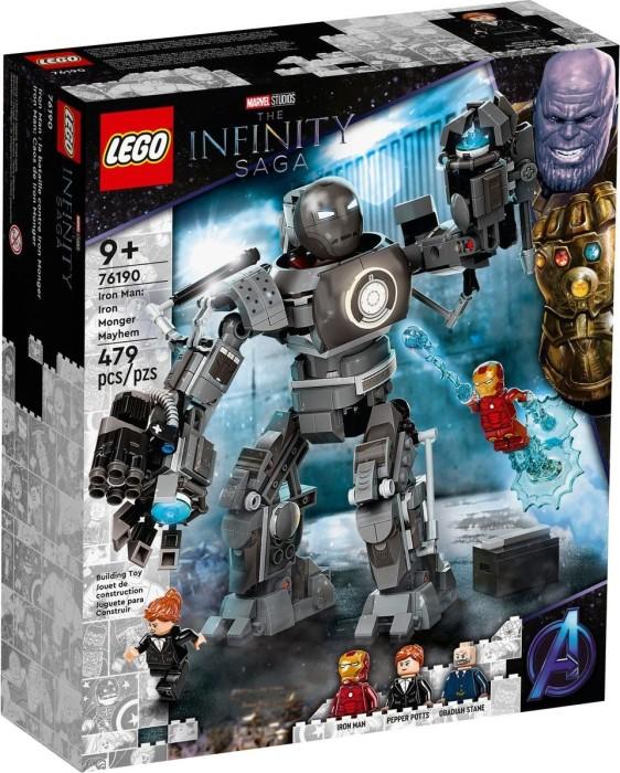 LEGO Marvel 76190 Iron Monger Mayhem Set LEGO konstruktors