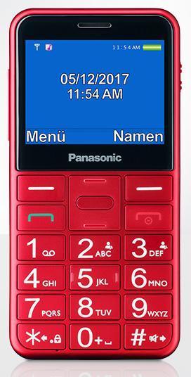 Panasonic KX-TU155EXRN Red Mobilais Telefons