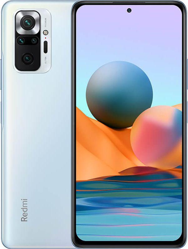 Smartfon Xiaomi Redmi Note 10 Pro 6/64GB Dual SIM Niebieski  (xiaomi_20210607155020) xiaomi_20210607155020 Mobilais Telefons