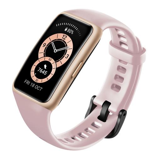 Huawei Band 6 Smart watch, AMOLED, Touchscreen, Heart rate monitor, Waterproof, Bluetooth, Sakura Pink Viedais pulkstenis, smartwatch
