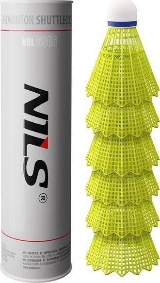 NILS NBL6306 SHUTTERS NYLON PACK OF 6 PCS. NILS badmintona rakete