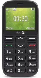 Doro D1360 Black 7322460073787 7322460073787 Mobilais Telefons