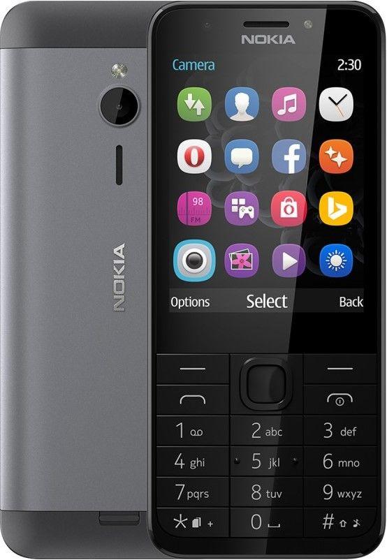 Nokia  230 DS RM-1172 Dark Silver Mobilais Telefons