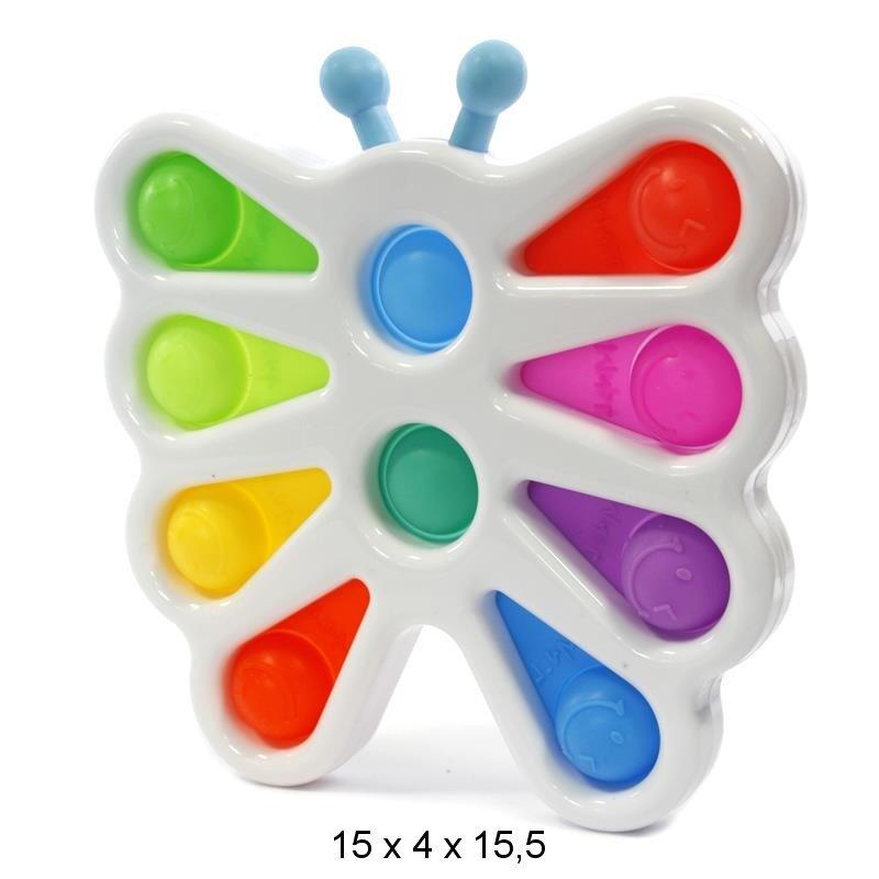 Mocco Simple Dimple Push Pop Antistresa Rotaļlieta / Taurenis / Daudzkrāsains Fidget spinner