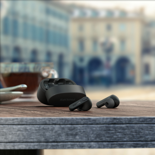 Philips True Wireless Headphones TAT2206BK/00, IPX4 water protection, Up to 18 hours play time, Black