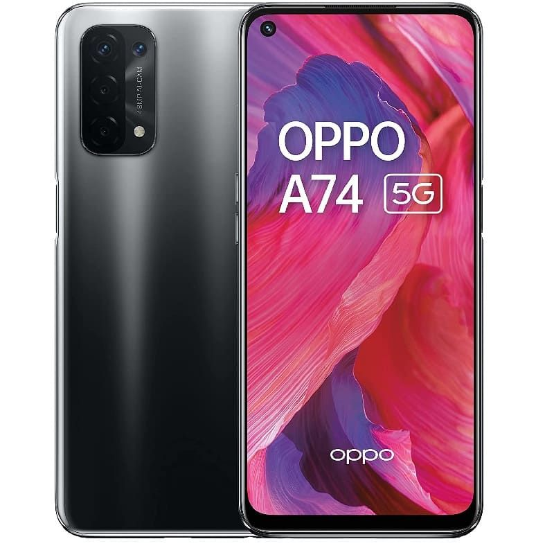 Oppo  A74 5G DS 6/128GB Fluid Black CPH2197 Mobilais Telefons