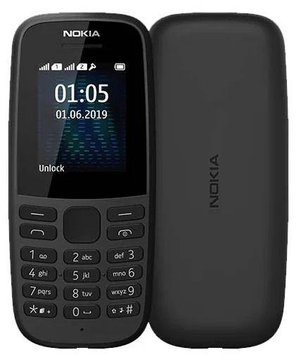 Nokia  105 2019 DS TA-1174 Black 6438409041753 Mobilais Telefons