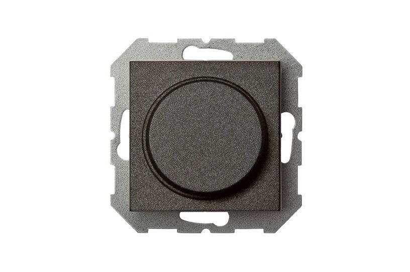 LED dimmer Liregus Epsilon, black, without frame