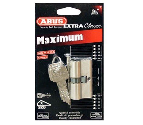 ABUS LOCK CYLINDER D6 30X30MM NICKEL 5K 4003318510151