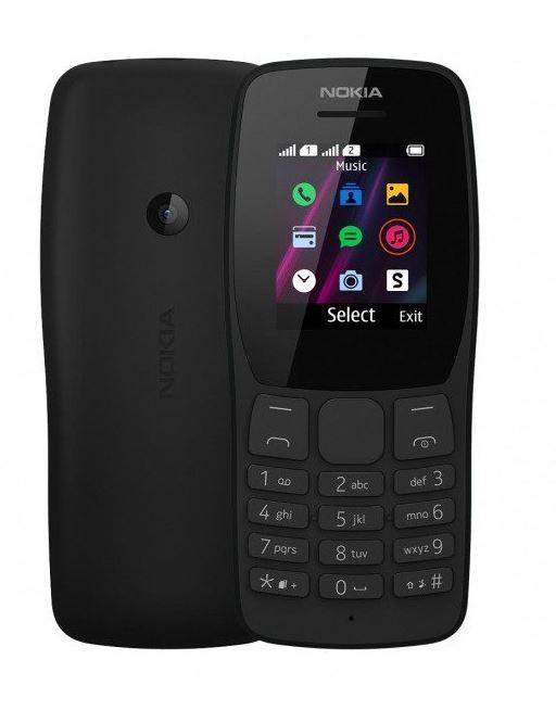 Phone 110 DUAL SIM black TA-1192 DS PL BLACK Mobilais Telefons