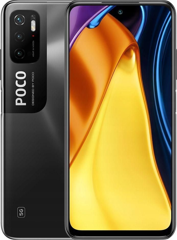 Smartfon Xiaomi POCO M3 Pro 5G 4/64GB Dual SIM Czarny  (S0230960) S0230960 Mobilais Telefons