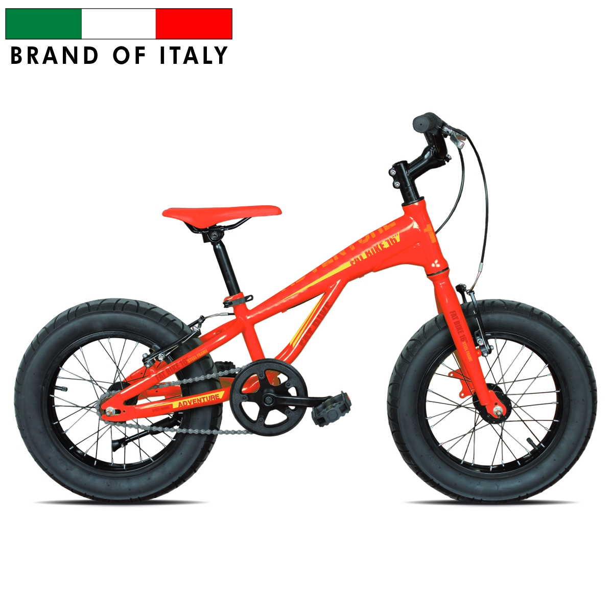 ESPERIA 9000 FAT BIKE 16'' RED/YELLOW 9016 Pilsētas velosipēds