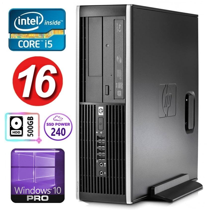 HP 8100 Elite SFF i5-750 16GB 240SSD+500GB NVS295 DVD WIN10Pro (Atjaunots) dators