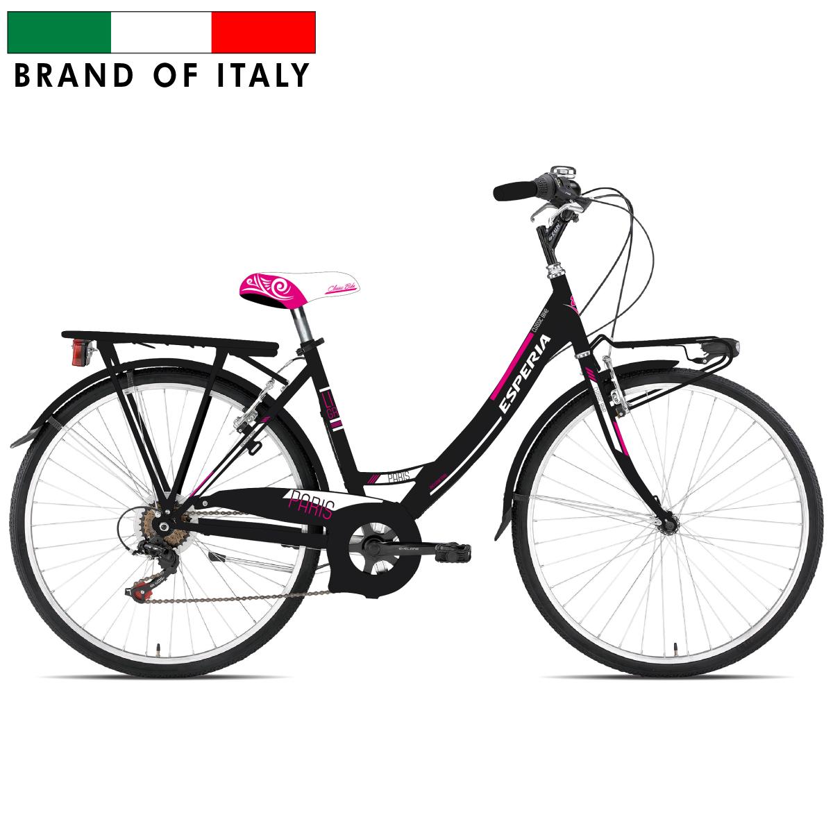 ESPERIA 2100 MONO 26 TZ50 6V BLACK 102100D Pilsētas velosipēds
