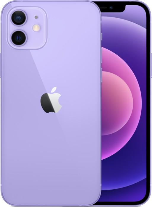 "Apple iPhone 12 15.5 cm (6.1"") Dual SIM iOS 14 5G 64 GB Purple Mobilais Telefons"