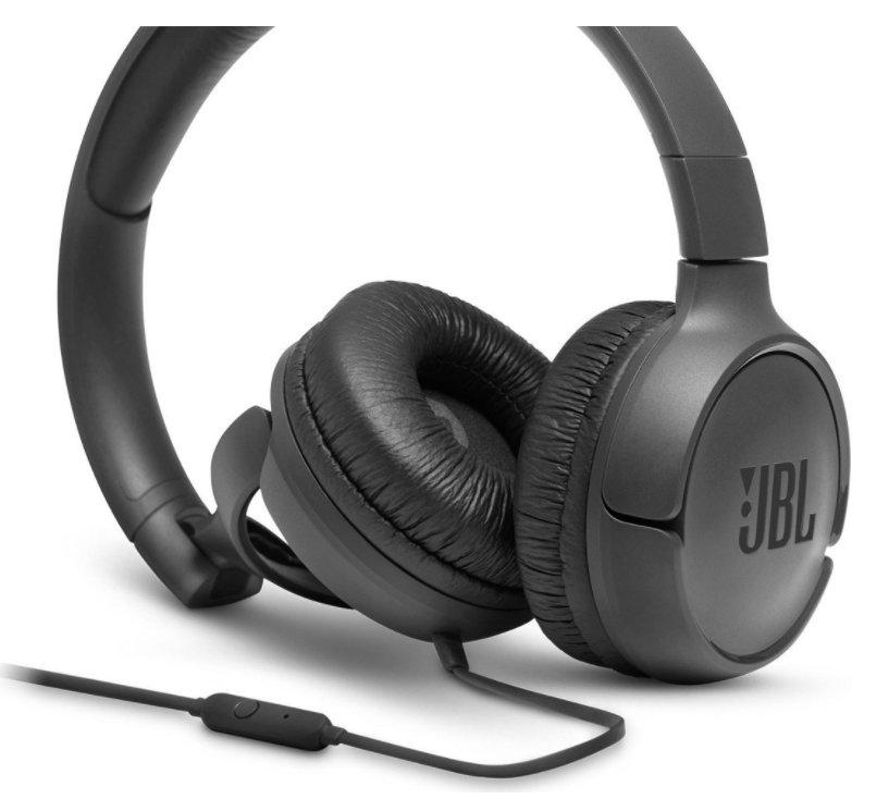 JBL Tune 500 Black austiņas