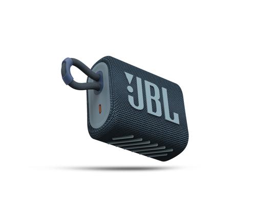 JBL ūdensizturīga portatīvā skanda JBL Go 3 zila pārnēsājamais skaļrunis