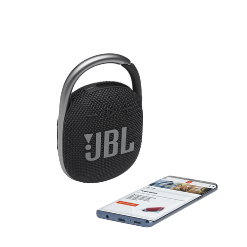 JBL CLIP 4 Portable bluetooth speaker with carabiner, water proof, IPX67, Black pārnēsājamais skaļrunis