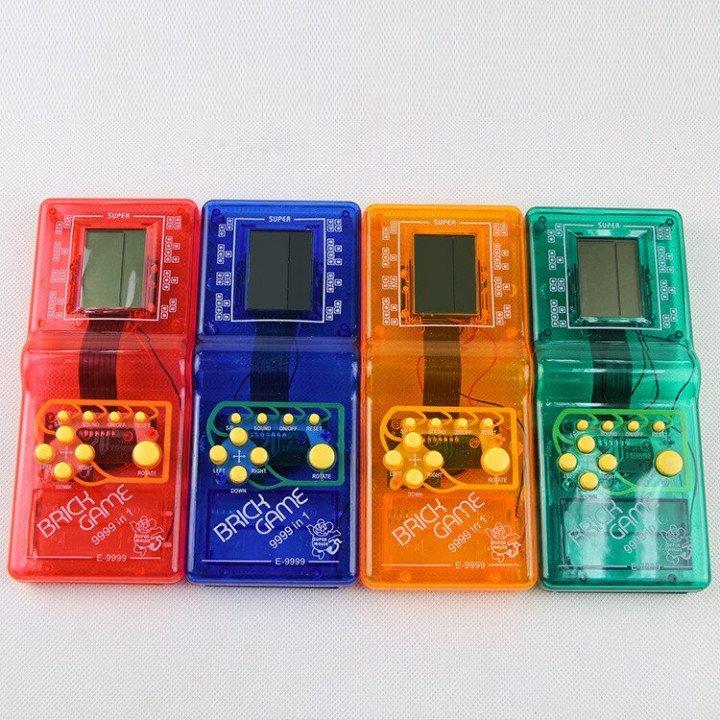 RoGer Elektroniskā spēle Tetris / Caurspīdīgs - Sarkans spēļu konsole